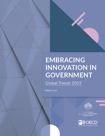 Image of the cover of the Embracing Innovation in Government: Global Trends 2019 report